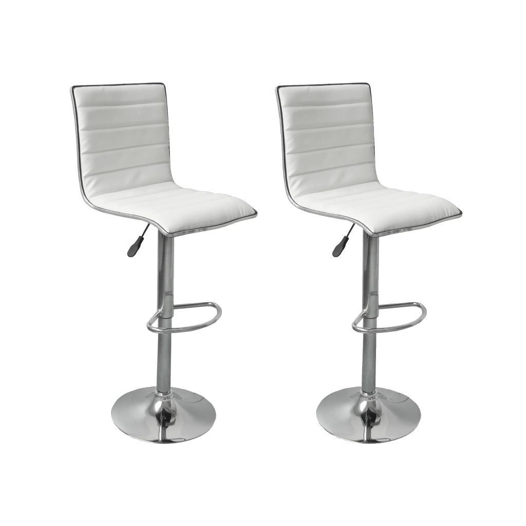 Picture of 2 Tabby bar stools white