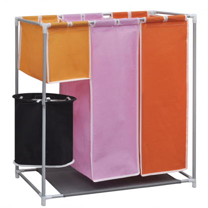 Picture of 3-Section Laundry Sorter Hamper with a Washing Bin