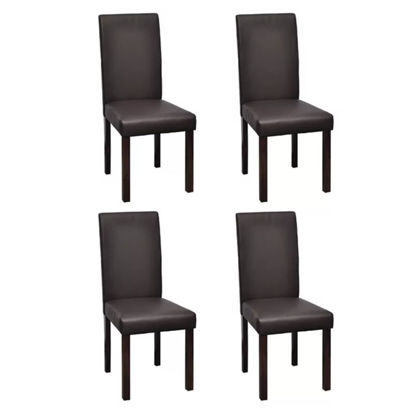 Picture of 4 x Dining chairs brown leather
