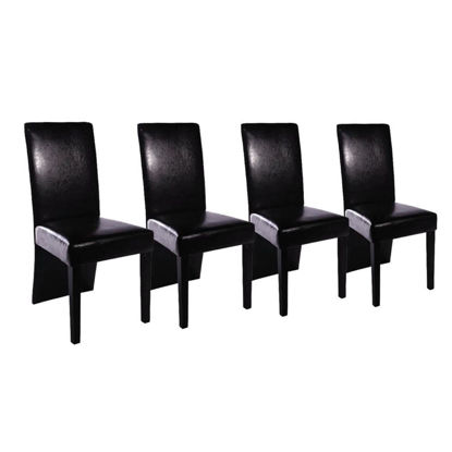 Picture of 4 x dining room chair black