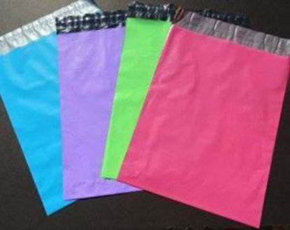 Picture of 6 x 9 Mailing Envelopes - Pack of 100 - Blue, Green, Pink and Purple