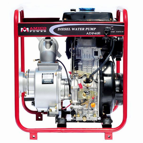 """Picture of AMICO Power 4"""" Diesel Water Pump/ Electric Start"""