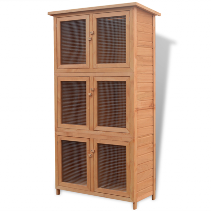 Picture of Animal Wooden Cage - 6-Room