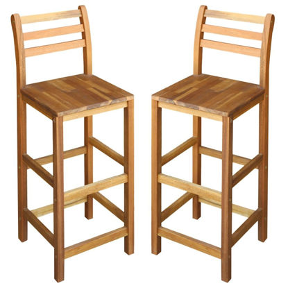 "Picture of Bar Chairs 2 pcs Solid Acacia Wood 16.5""x14.2""x43.3"""