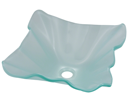 Picture of Bathroom Frosted Glass Sink - Wavy Edges
