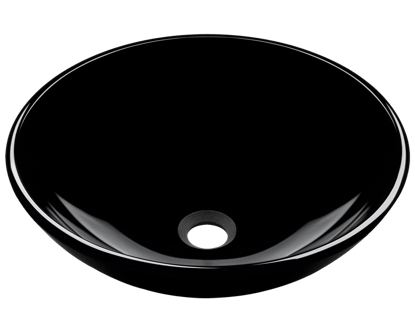 Picture of Bathroom Glass Sink Vessel - Dark Colored