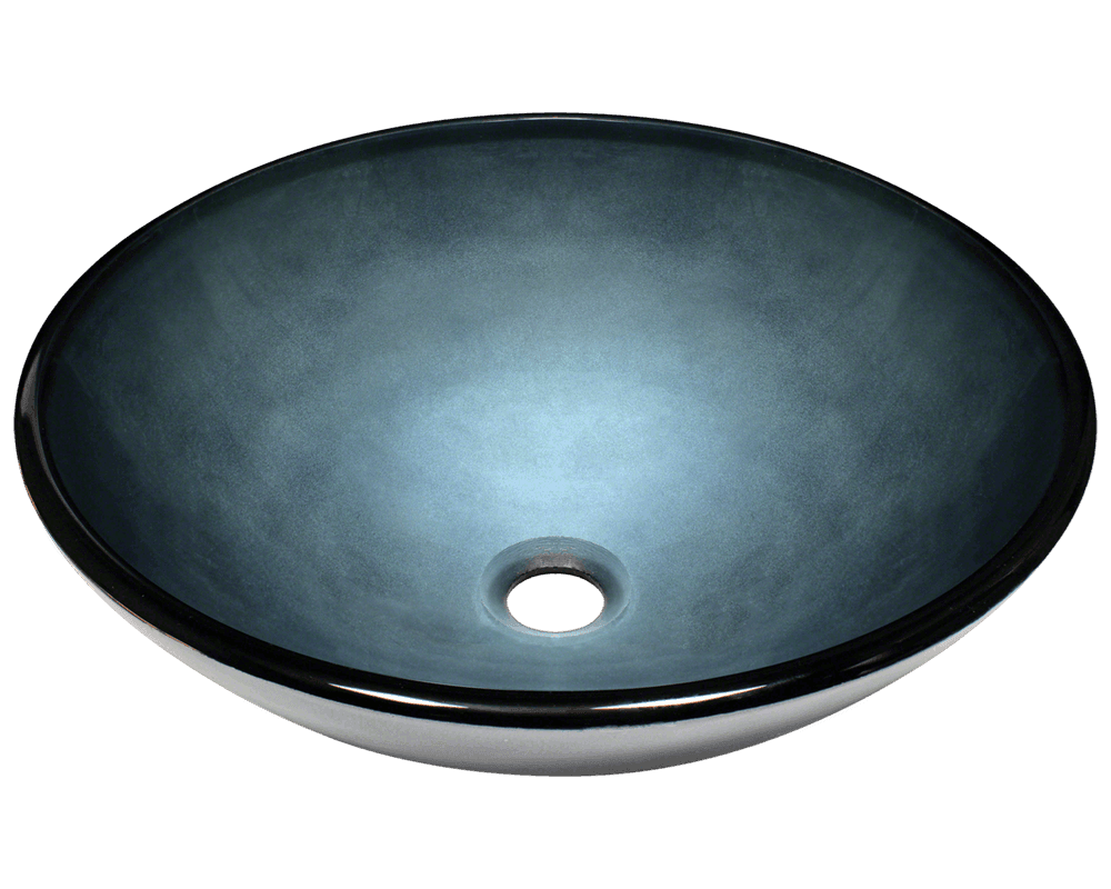 Picture of Bathroom Glass Sink Vessel - Hand Painted