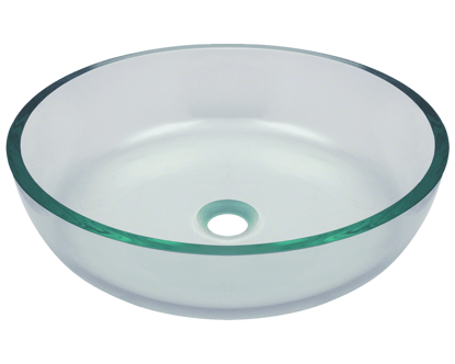 Picture of Bathroom Sink Vessel - Clear Glass