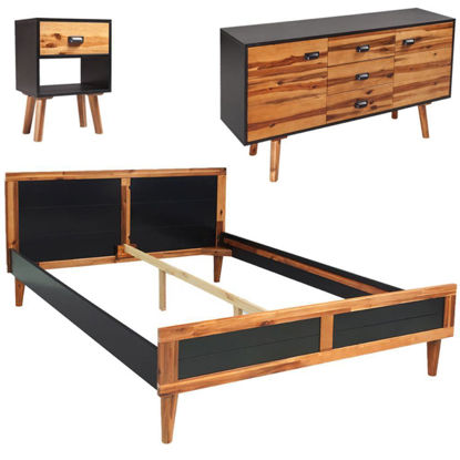 "Picture of Bedroom Furniture Set 55"" - Solid Acacia Wood 4pc"