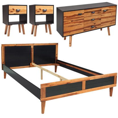 "Picture of Bedroom Furniture Set 70"" - Solid Acacia Wood 4pc"