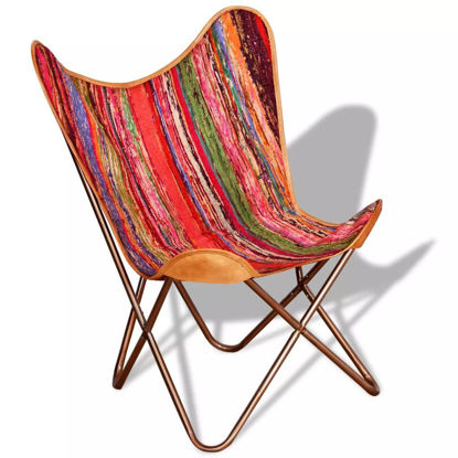 Picture of Butterfly Chair Chindi Fabric Multicolor