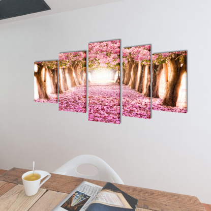 "Picture of Canvas Wall Print Set Cherry Blossom 79"" x 39"""