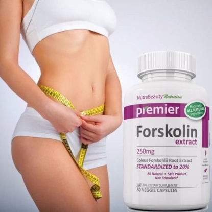 Picture of Diet Pills Weight Loss Forskolin Extract 100% Pure Coleus Forskohlii 250mg 20% Standardized - 60 Capsules