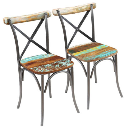 Picture of Dining Chairs 2 pcs - Solid Reclaimed Wood