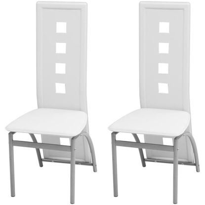 Picture of Dining Chairs 2 pcs Artificial Leather White