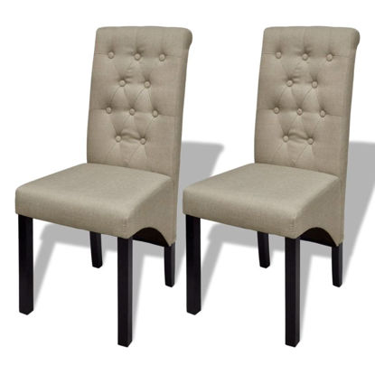 Picture of Dining Chairs 2 pcs Fabric Beige