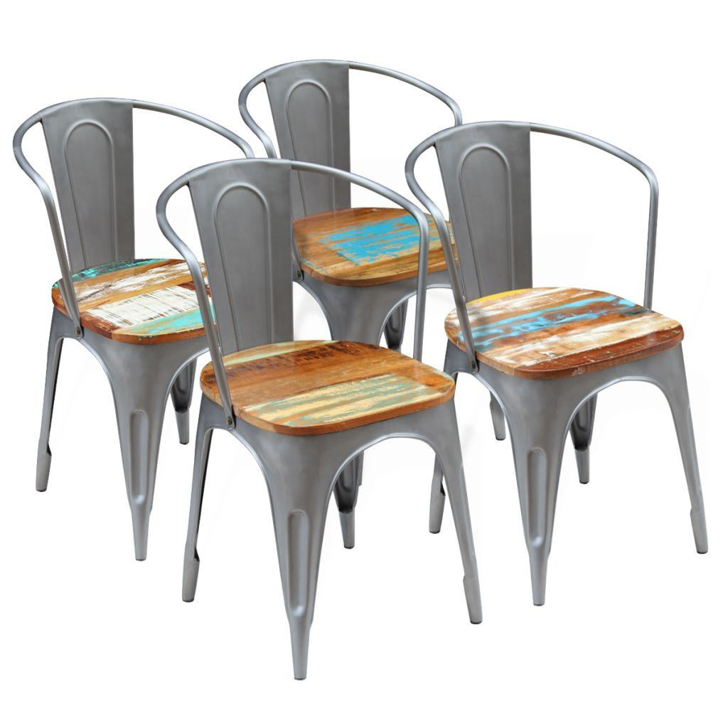 """Picture of Dining Chairs 4 pcs Solid Reclaimed Wood 20""""x20.5""""x31.5"""""""