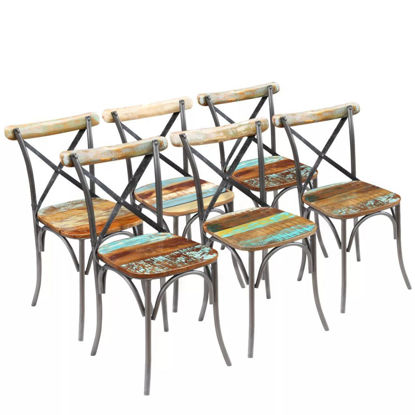 """Picture of Dining Chairs 6 pcs Solid Reclaimed Wood 20""""x20.5""""x33"""""""