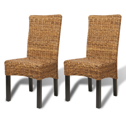 Picture of Dining Chairs Woven - 2 pcs Abaca Brown
