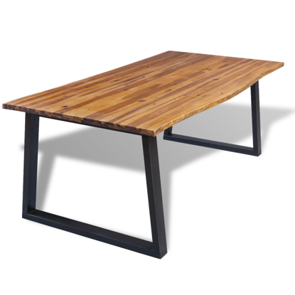 "Picture of Dining Table 71"" - Solid Acacia Wood"