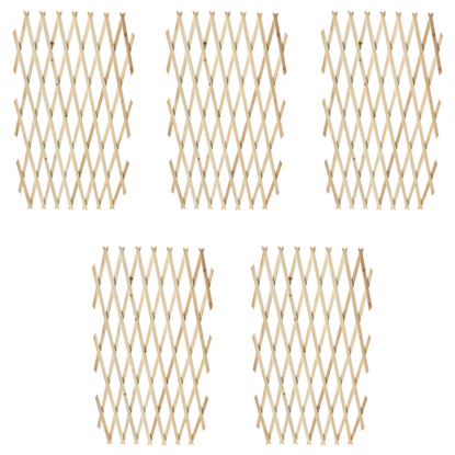 """Picture of Extendable Wood Trellis Fence 5' 11"""" x 2' 11"""" - Set of 5"""