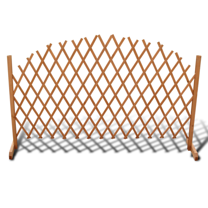 """Picture of Extendable Wood Trellis Fence 5' 11"""" x 3' 3"""""""