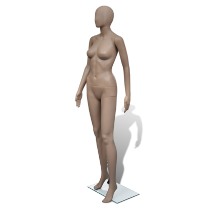 Picture of Female Full Size Mannequin Round Head with Stand Clothes Display