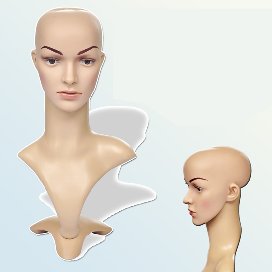 Picture of Female Mannequin Head PE Realistic Wig Heat Window Display