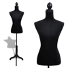 Picture of Female Mannequin Ladies Bust Display Dress Form - Black