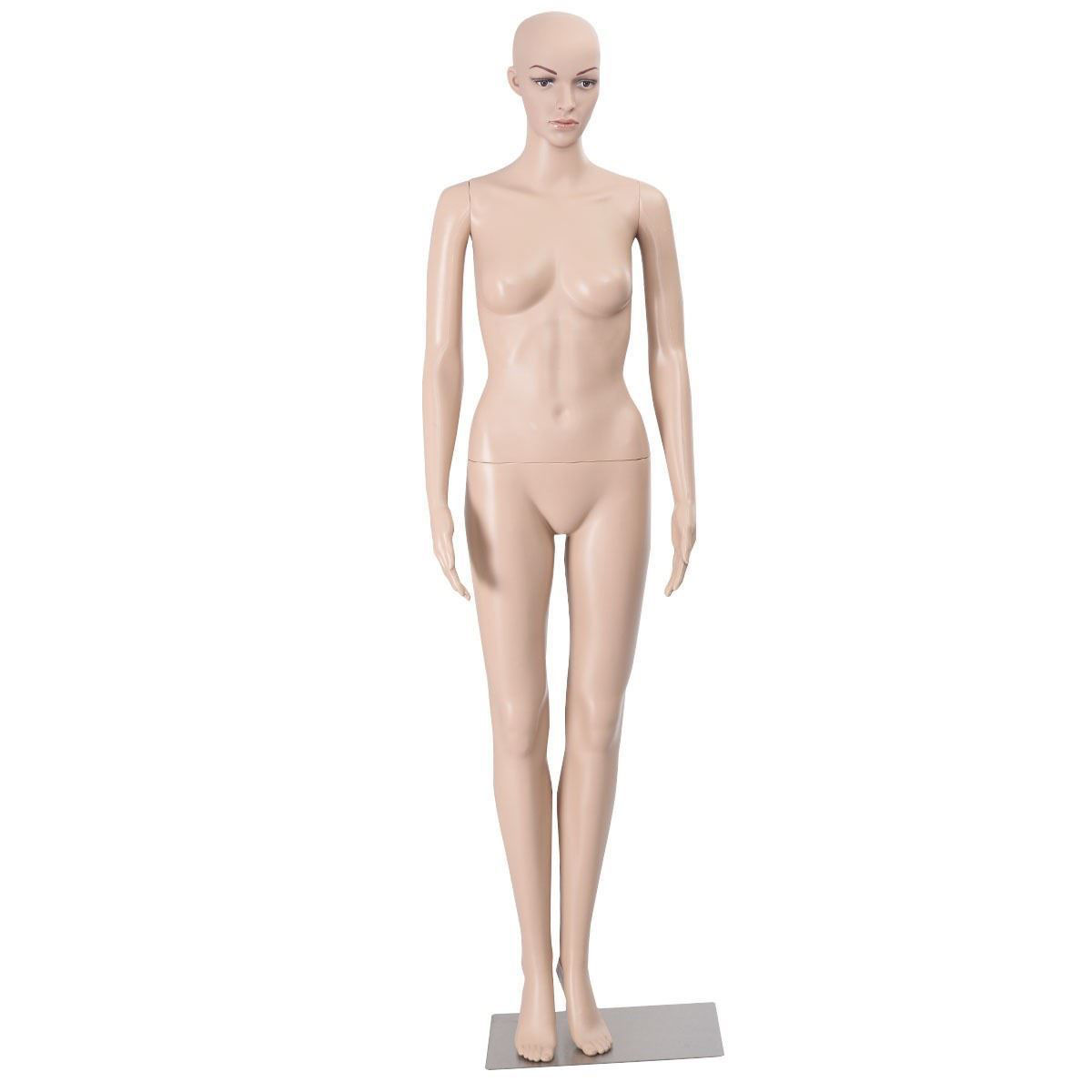 Picture of Female Mannequin Plastic Display Head Turns Dress Form with Base