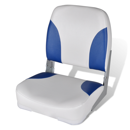 Picture of Foldable Boat Seat Backrest with Pillow - Blue-White