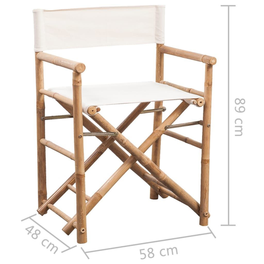 Picture of Folding Director's Chair - 2 pcs Bamboo and Canvas