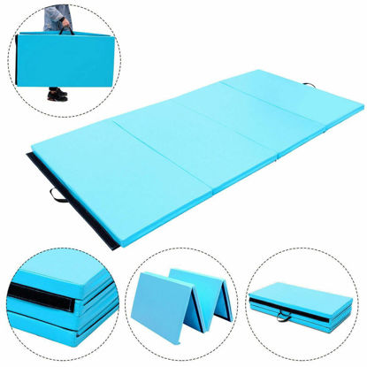 Picture of Folding Gymnastics Mat Blue - 4' x 8' x 2""