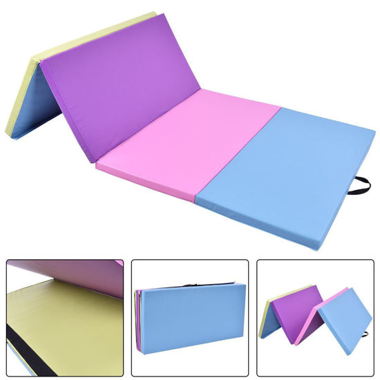 "Picture of Folding Gymnastics Mat Multi Color - 4' x 8' x 2"""