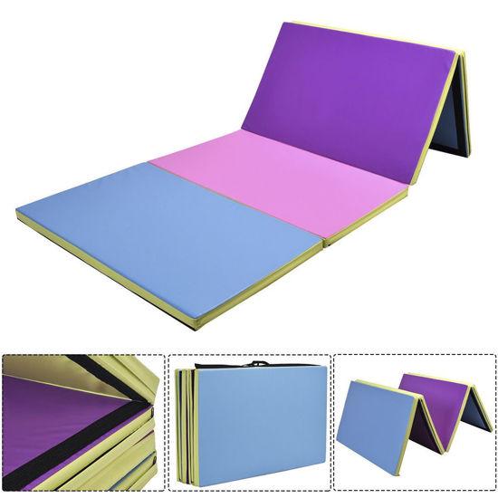 "Picture of Folding Gymnastics Mat Multi-Color - 4' x 10' x 2"""