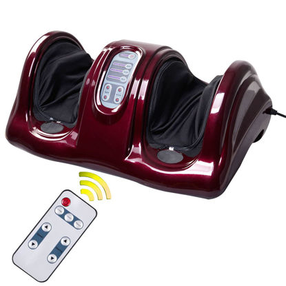 Picture of Foot Massager Shiatsu with Remote Red Burgundy