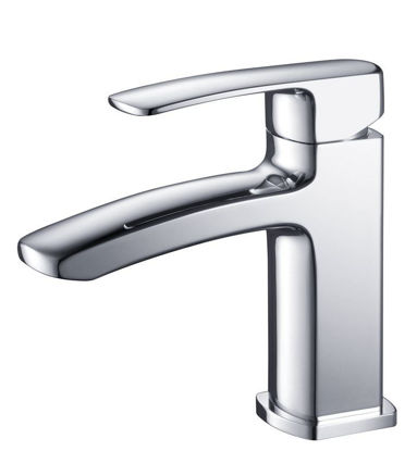 Picture of Fresca Fiora Single Hole Mount Bathroom Vanity Faucet - Chrome