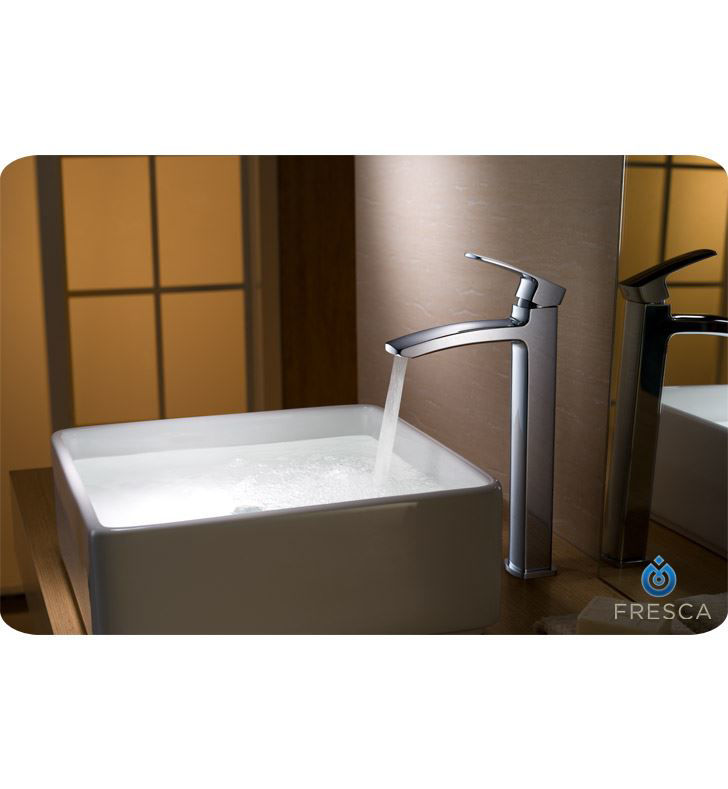 Picture of Fresca Fiora Single Hole Vessel Mount Bathroom Vanity Faucet - Chrome