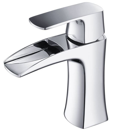 Picture of Fresca Fortore Single Hole Mount Bathroom Vanity Faucet - Chrome