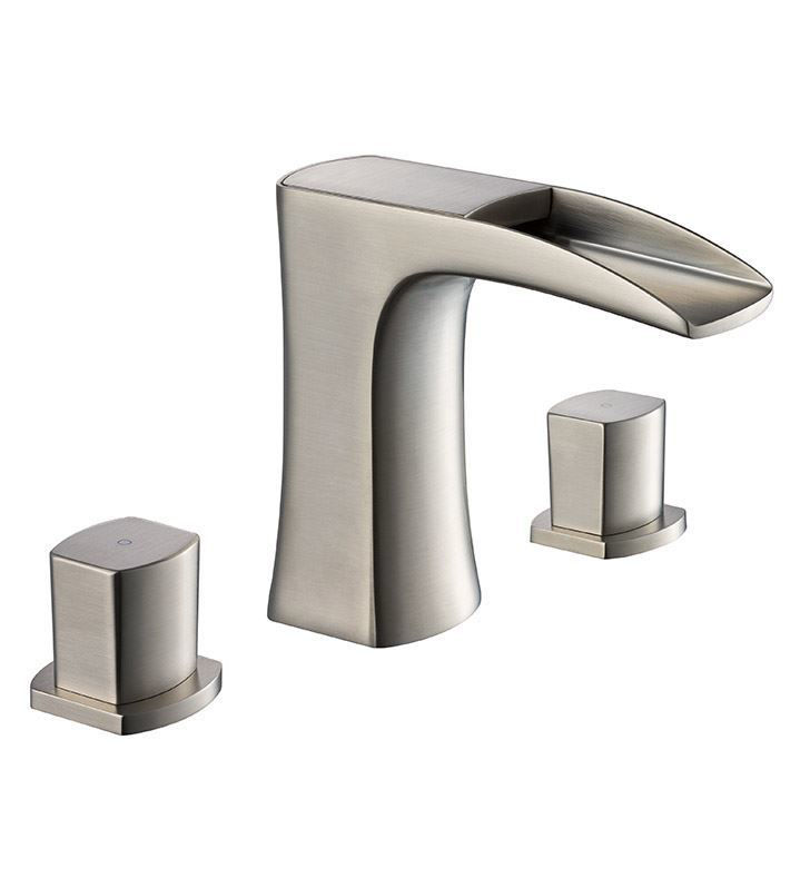 Picture of Fresca Fortore Widespread Mount Bathroom Vanity Faucet - Brushed Nickel