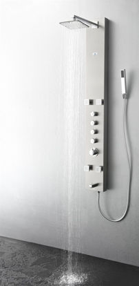 Picture of Fresca Pavia Stainless Steel (Brushed Silver) Thermostatic Shower Massage Panel