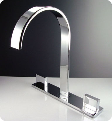 Picture of Fresca Sesia Widespread Mount Bathroom Vanity Faucet - Chrome