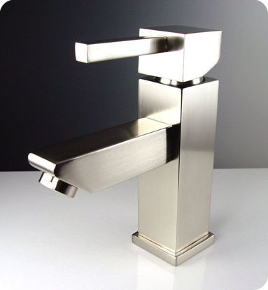 Picture of Fresca Versa Single Hole Mount Bathroom Vanity Faucet - Brushed Nickel