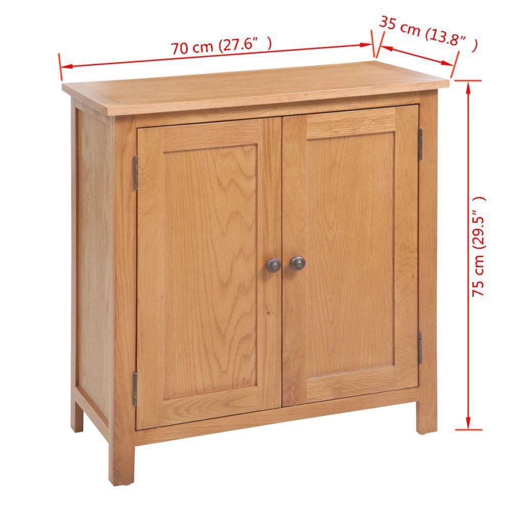 "Picture of Hallway Living Room Sideboard Solid Oak 27"" - Brown"