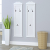 Picture of Hat Clothes Hanger Coat Rack Wall Mounted - 2 pc White