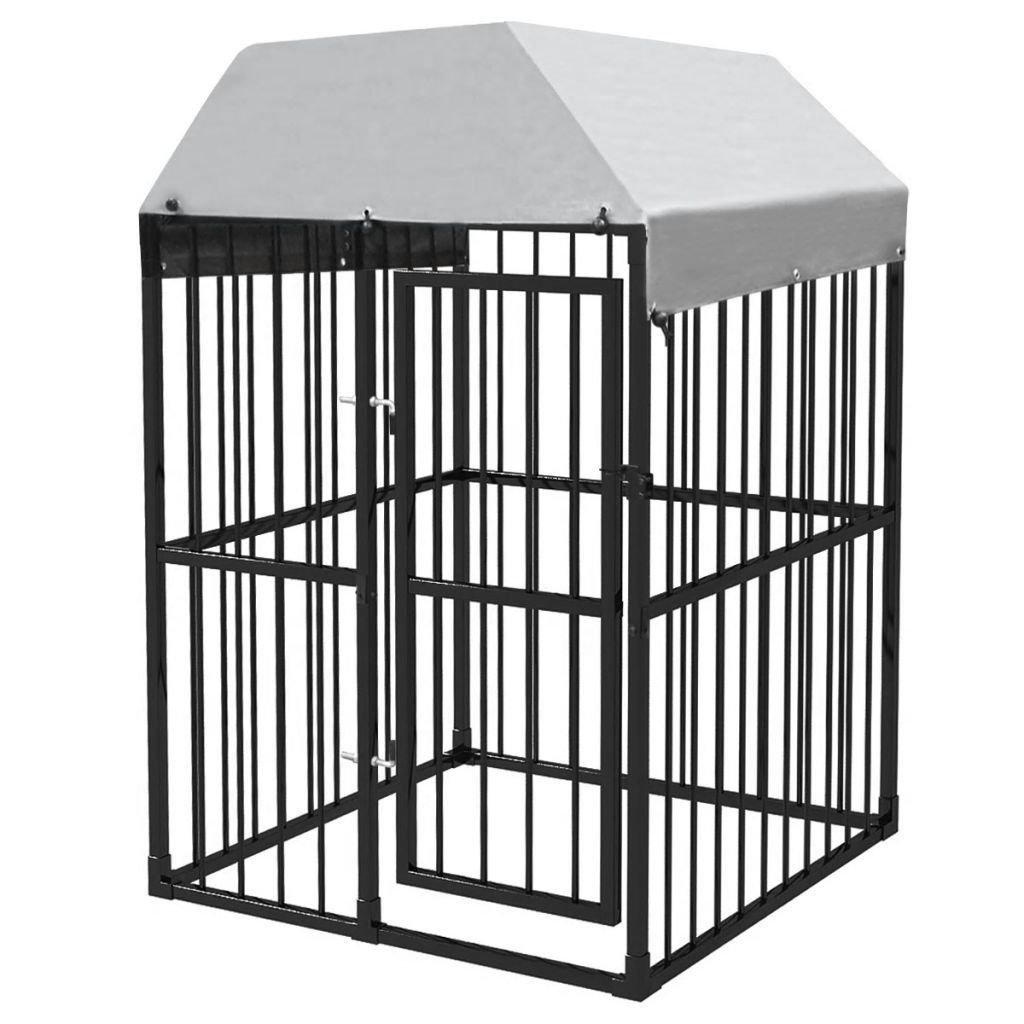 Picture of Heavy-Duty Outdoor Dog Kennel with Roof 4x4