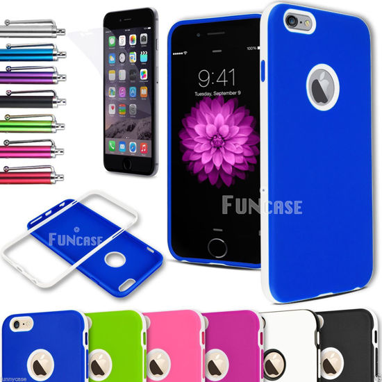 Picture of iPhone 6 4.7'' Plus 5.5'' Rugged Rubber Matte UltraThin Soft Hard Case Cover
