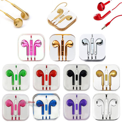 Picture of iPhone MP3 MP4 Tablet PC Laptop 3.5mm Earbud Earphone Headset For Mobile Phone