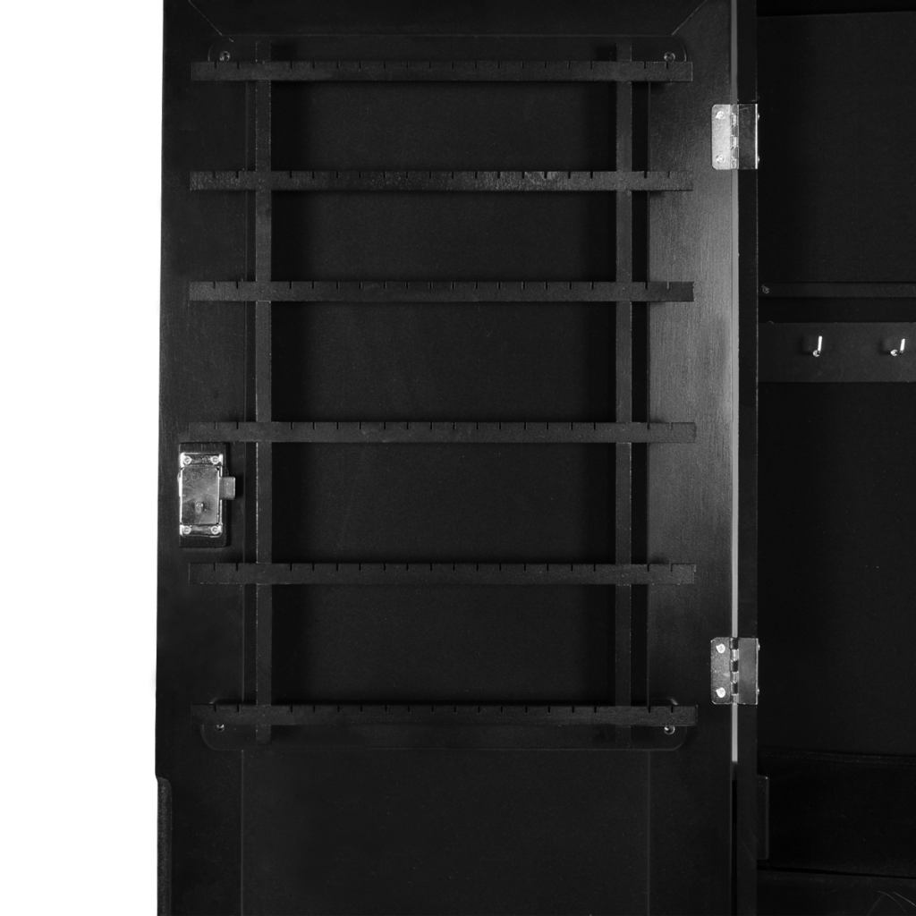 Picture of Jewelry Cabinet with Mirror Free Standing - Black
