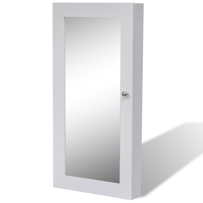 Picture of Jewelry Wall Cabinet with Mirror - White
